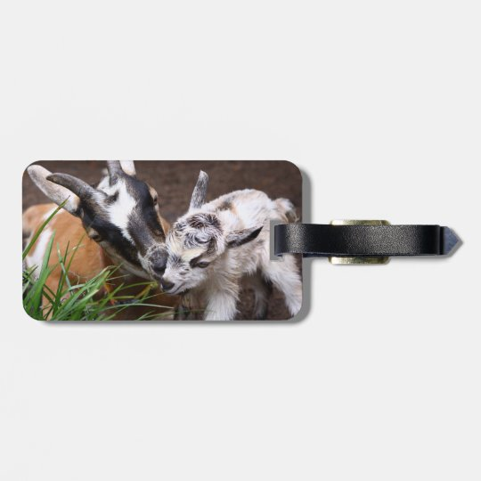 Mom and Baby Goat Luggage Tag