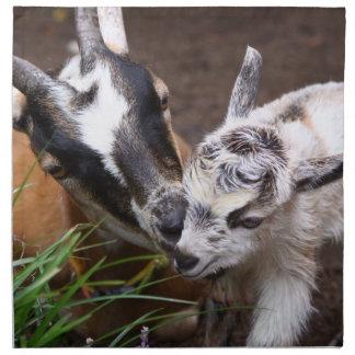 Mom and Baby Goat Napkin