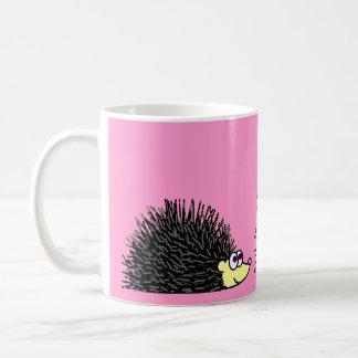 Mom and Baby Hedgehog Coffee Mug