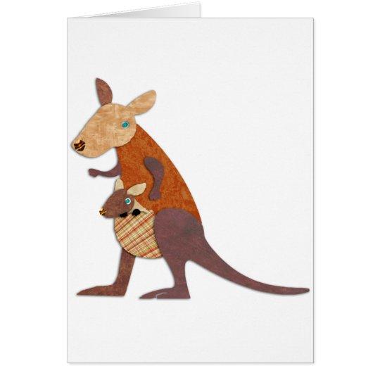Mom and Baby Kangaroo Card