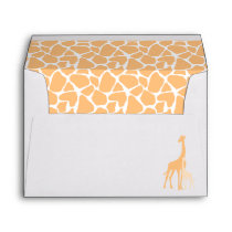 Mom and Baby Orange Giraffes Baby Shower Envelope