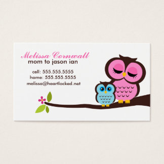 Mom and Baby Owl Calling Cards