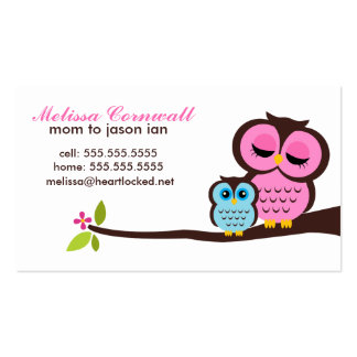 Mom and Baby Owl Calling Cards Double-Sided Standard Business Cards (Pack Of 100)