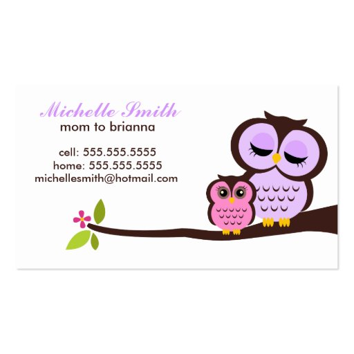 Seal business card templates bizcardstudio for Mommy business cards