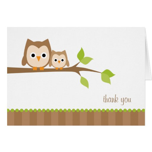 Mom and Baby Owl Note Cards Greeting Card