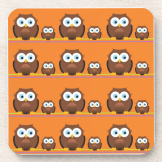 Mom and Baby Owls Coaster