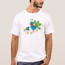 Mom and Baby Peacock T-Shirt