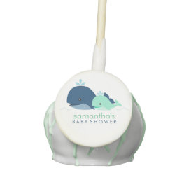 Mom and Baby Whale Baby Shower {green} Cake Pops