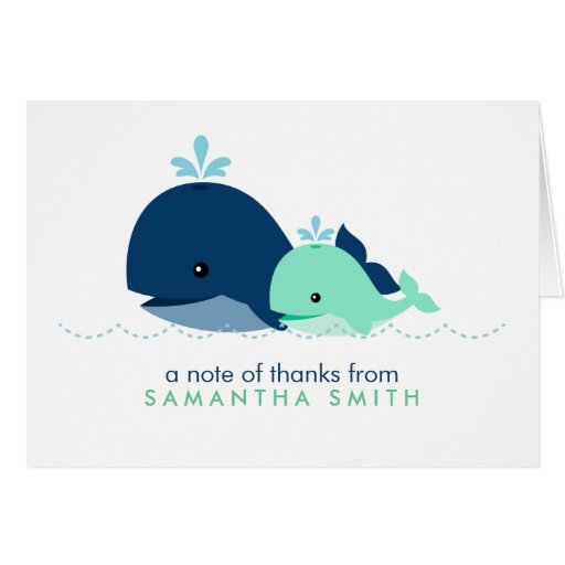 Mom and Baby Whale Baby Shower {green} Greeting Card