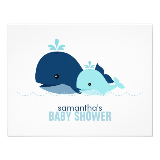 Mom and Baby Whale Mom Advice Cards {blue}