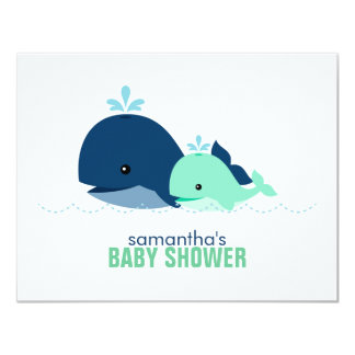Mom and Baby Whale Mom Advice Cards {green}