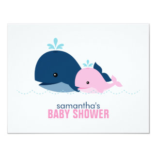 Mom and Baby Whale Mom Advice Cards {pink}