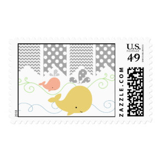 Mom and Baby Whale Postage