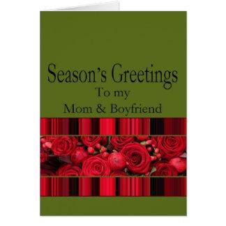 Mom and Boyfriend   Merry Christmas card