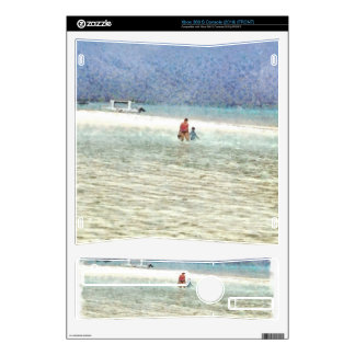 Mom and child at beach xbox 360 s decal