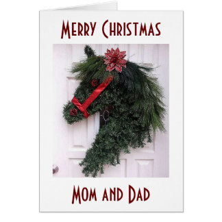 MOM AND DAD AT CHRISTMAS=SPECIAL MEMORIES CARD