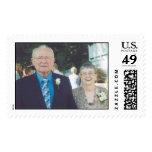 mom and dad katies wedding postage stamp