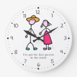 Mom and Dad Large Clock