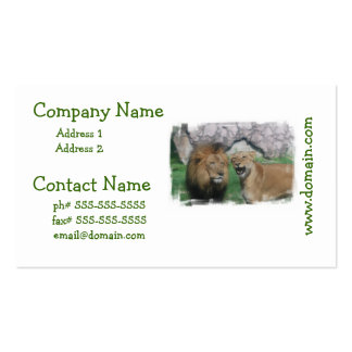 Mom and Dad Lion  Business Cards