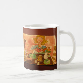 Mom and Dad love each other and hot dogs Classic White Coffee Mug