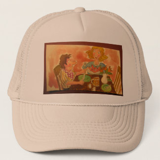 mom and dad love each other and hot dogs! trucker hat
