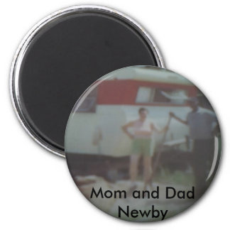 Mom and Dad Newby At their Trailor Magnet
