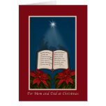 Mom and Dad, Open Bible Christmas Message Greeting Card