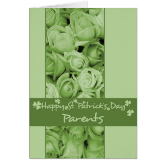 Mom and Dad St. Patrick's Irish roses Greeting Cards