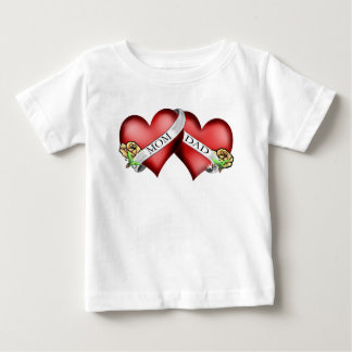 mom and dad tattoo baby T-Shirt