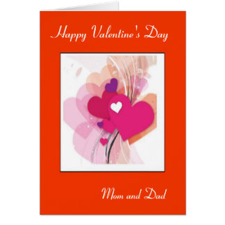 Mom and Dad Valentine's day Card