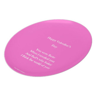 Mom and dad valentine's day melamine plate