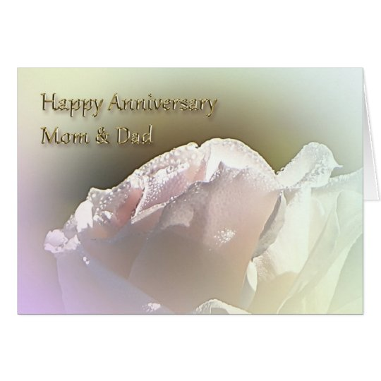 Mom and Dad Wedding Anniversary Greeting Card