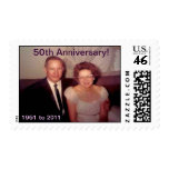 Mom and Dad's 50th Anniversary Postage Stamps