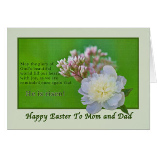 Mom and Dad's Easter Card with Flowers