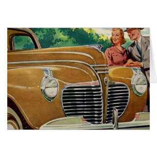 Mom and Dad's MAMMOTH golden 1941 Plymouth Card