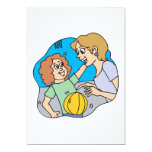 """Mom And Daughter 5"""" X 7"""" Invitation Card"""