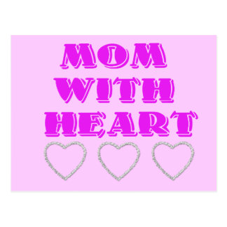 Mom and Hearts Postcard