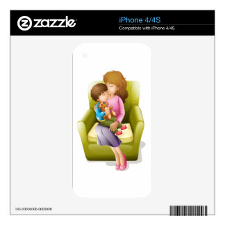 mom and kid decal for iPhone 4