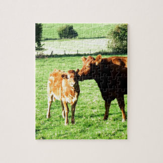 Mom and love cow calv jigsaw puzzles