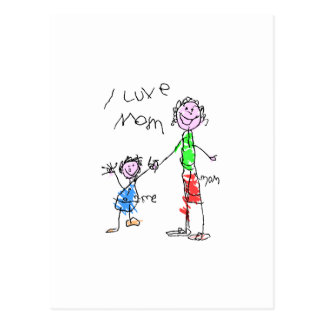 Mom and Me I Love Mom Postcard