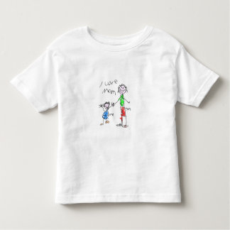 Mom and Me I Love Mom Toddler T-shirt