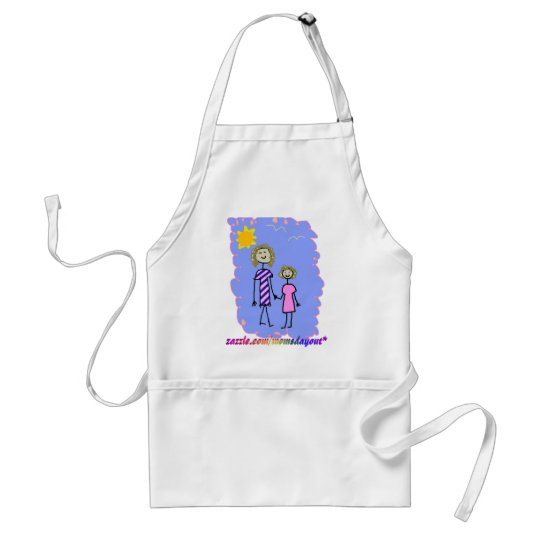 Mom and Me, Mother Daughter Walk Adult Apron