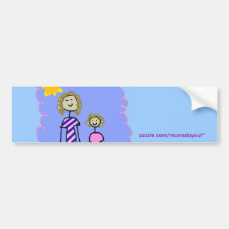 Mom and Me, Mother Daughter Walk Bumper Sticker