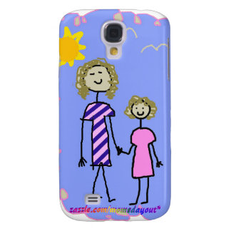 Mom and Me, Mother Daughter Walk Galaxy S4 Case