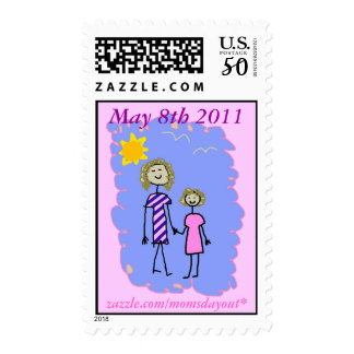 Mom and Me, Mother Daughter Walk Postage