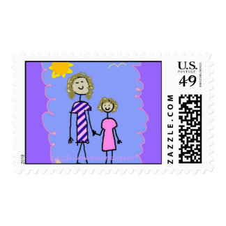Mom and Me, Mother Daughter Walk Stamp