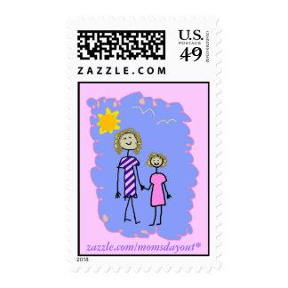 Mom and Me, Mother Daughter Walk Stamps