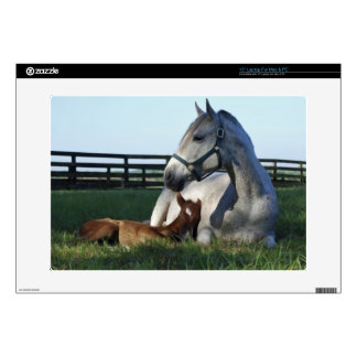 """Mom and New Filly. 15"""" Laptop Skin"""