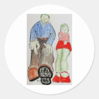 Mom and Pop Classic Round Sticker