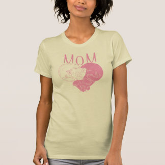 Mom and Two Heart Cats T-Shirt